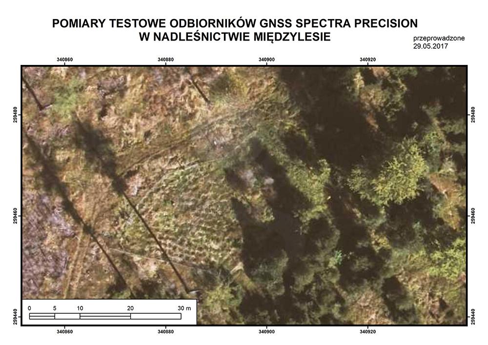 Pomiary testowe odborników GNSS Spectra Precision w Nadleśnictwie Międzylesie