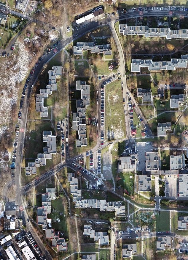 Ortofotomozaika wygenerowana w programie Pix4Dmapper ze zdjęć pochodzących z drona DJI Phantom 4 RTK.