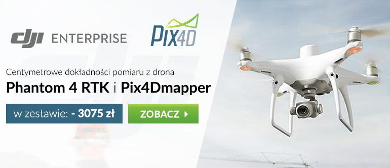 DJI Phantom 4 RTK + Pix4Dmapper w zestawie