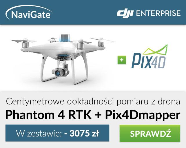 Nowości w GeoSklepie: Phantom 4 RTK + Pix4Dmapper